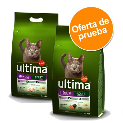 Ultima Adult 2 x 3 kg para gatos esterilizados - Pack mixto