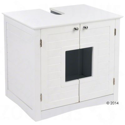waschbeckenunterschrank f r katzentoiletten testberichte auf zooplus. Black Bedroom Furniture Sets. Home Design Ideas