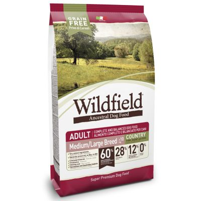 Wildfield Adult Country Med/Large con Maiale, Coniglio e Uova