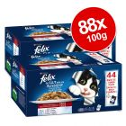 88 x 100g Felix Pouches in Jelly - Mega Pack!*