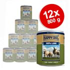 12 x 800 g Happy Dog Pur