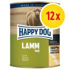 12 x 800 g Happy Dog Pur Hundefutter