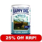 6 x 400g Happy Dog Pure - 25% Off RRP!*