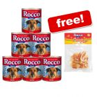 6 x 800g Rocco Classic Wet Dog Food + Rocco Chings Treats Free!*