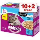 12 x 85g Whiskas Casserole Selection in Jelly - 10 + 2 Free!*