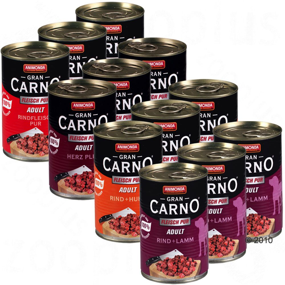 GranCarno Adult dog food is made exclusively using fresh meat to produce exquisite easy to chew chunks of meat