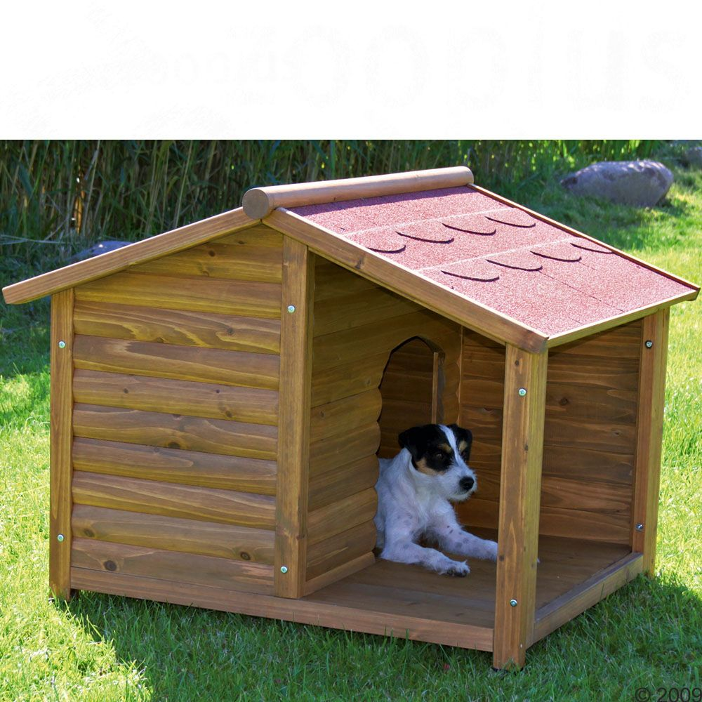 This lovely dog kennel with its cosy porch has extra high stands to protect your dog from rising damp and cold