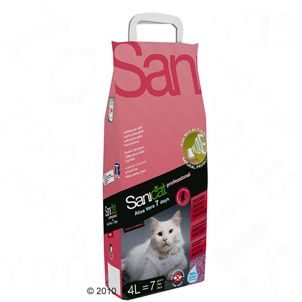 Sanicat Professional Aloe Vera 7 Days cat litter gives you an incredible range of advantages all in one pack
