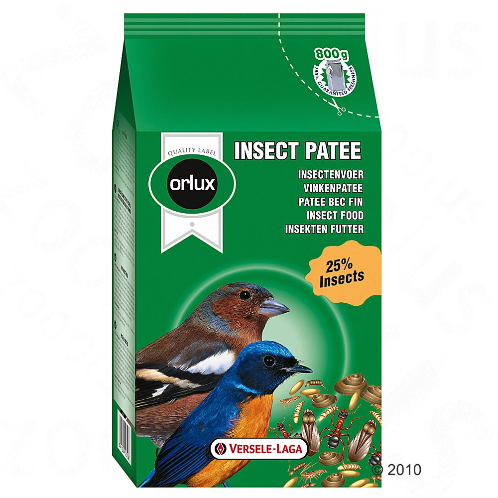 This quality food mixture by Versele Laga with 25% insect content is a complete diet for all insect-eating birds
