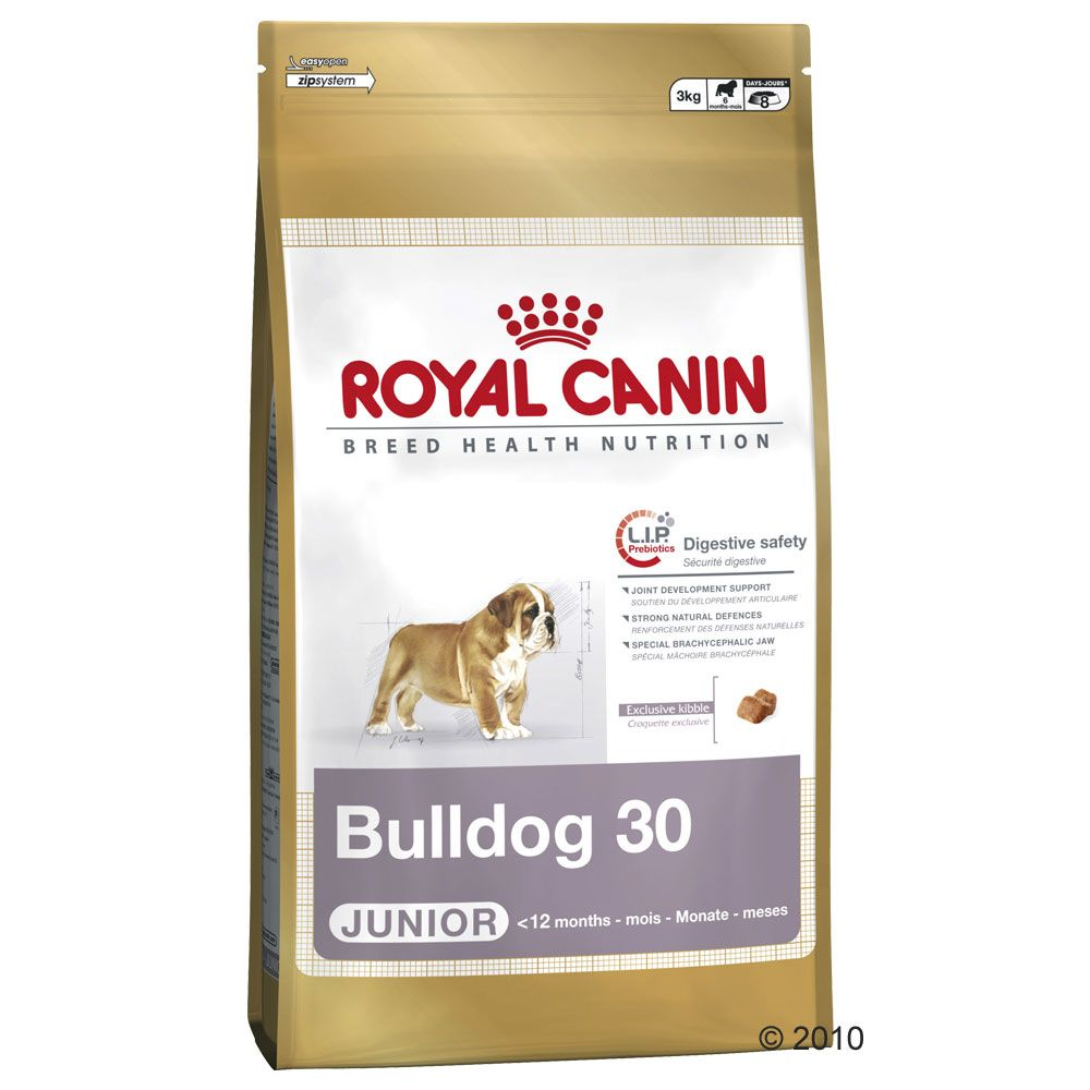 The growing bulldog needs a food that will meet its special nutritional requirements in the crucial growth phase