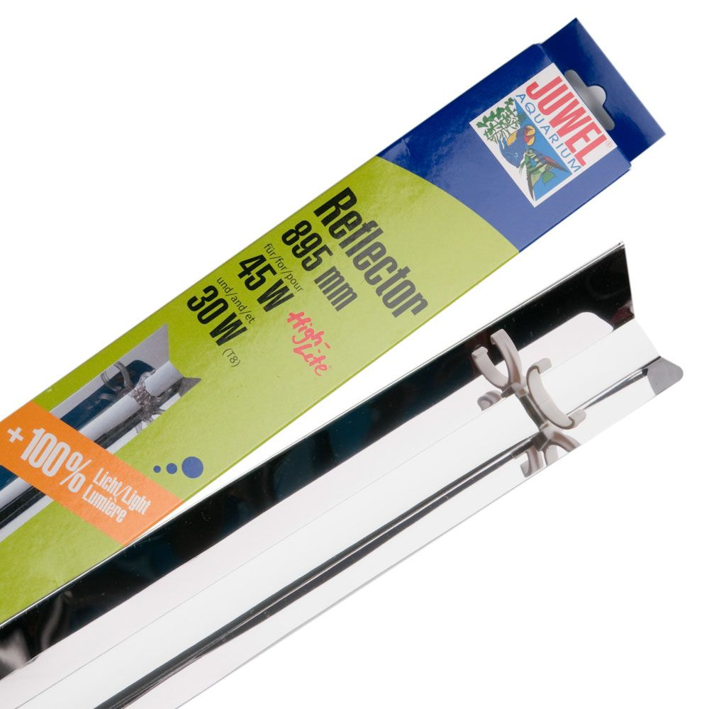 Fluorescent tube reflectors double the strength of your light tube and ensure even better lighting throughout your aquarium especially in deep areas