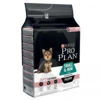 Pro Plan Small/Puppy Sensitive OptiDerma Salmone & Riso
