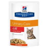 Hill's Prescription Diet Feline c/d Urinary Stress, kurczak w sosie