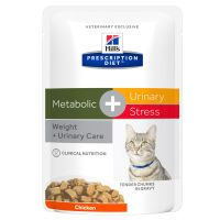 Hill's Prescription Diet Feline Metabolic + Urinary Stress umido per gatti