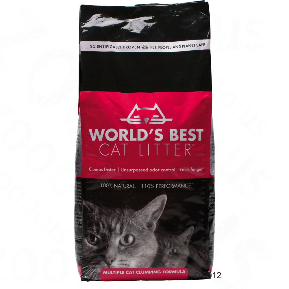 Made from whole kernel corn this clumping cat litter from the USA is 100% ecological