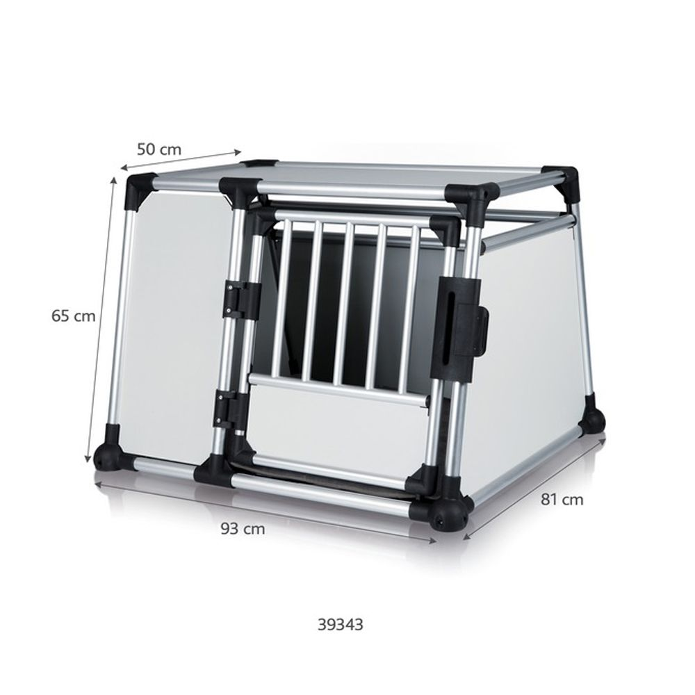 Aluminium dog crates from Trixie are the safe way to transport your dog when travelling by car