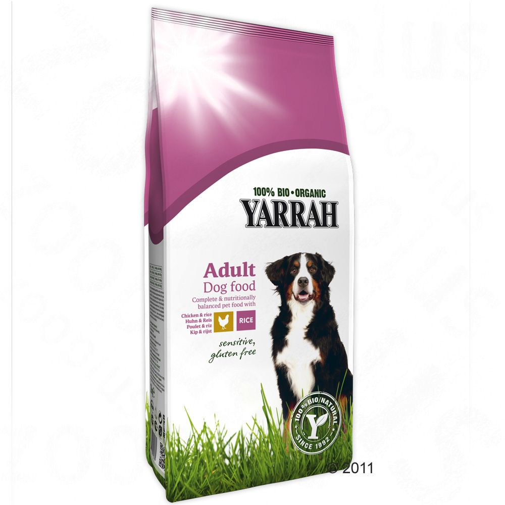 Yarrah Sensitive is certified organic gluten free and friendly to the stomach so that it is suited for all dogs with food allergies as well as for dogs with a sensitive stomach