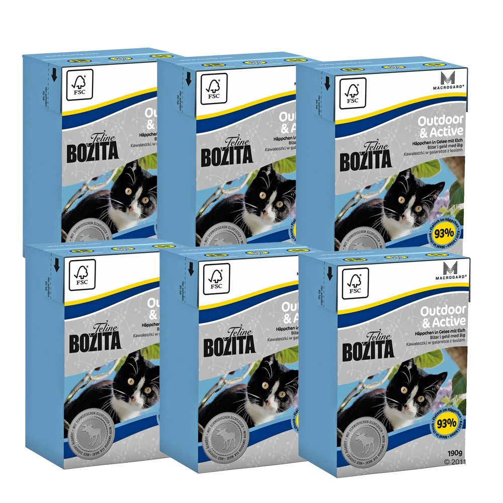 Bozita Feline Tetra Pak Package cat food provides your cat with all the nutrients it needs to stay healthy no matter what its needs are