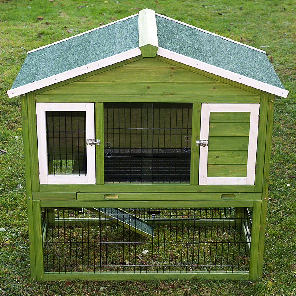 A great rabbit hutch with integrated run