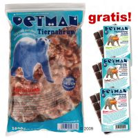 20 kg PETMAN Frostfutter + 3 x 100 g PETMAN Supplements
